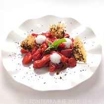 【Marco Lotito】義大利甜菜餃佐帕米桑乳酪粉 Beet potato gnocchi perfumed truffle with Anchor parmesan cream