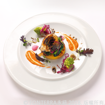 【Marco Lotito】奶油福氣魚佐紅椒醬Hoki fish fillet with gnocchi semolino and red pepper sauce